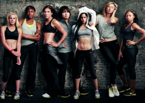 Strong, beautiful global goddesses of healthy living. Aspire towards new change. (Nike photo credit)